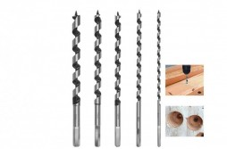 Wood Auger Drill Bit Set 5pcs Long Length 6-14mm
