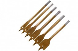 6pcs Spade Paddle Flat Wood Boring Titanium Coated