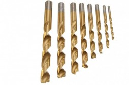 8pcs Titanium Coated HSS Twist Drill Sets