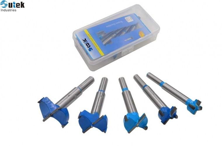 5 pcs Carbide Tipped Forstner Drill Bits Set