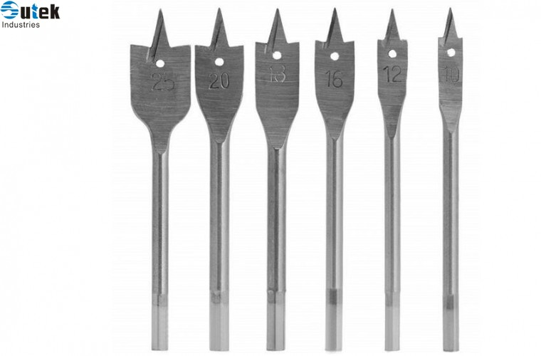 Flat Wood Drill Bit Set 6pcs