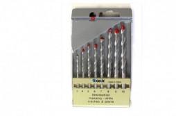 Drill Bit Masonry Drill Sets 8Pcs  Red Tip