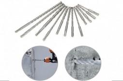 Rotoary Drill Bits 17pcs Hammer Drill Bit Chisel Bit combinatio