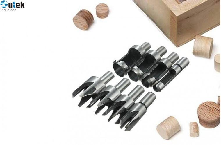 Drill Bit Set 8pcs Scotic Wood Plug Cutter Cutting Tool Drill Bit Set