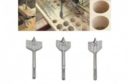 Flat Spade Bit, hex shank with Groove flute extra length
