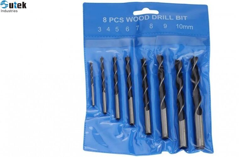 Brad Point Wood Drill Bit Set 8pcs