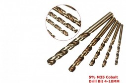 5pcs CobaltHSS Twist Drill Sets