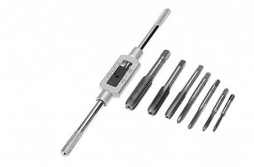 Adjustable Tap Wrench_8pcs HSS Tap Set With Adjustable tap Wrench