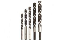 Brad Point Wood Drill Bit Set 5pcs With Extra Flute
