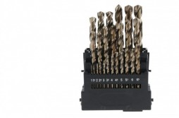 25pcs Cobalt HSS Twist Drill Set